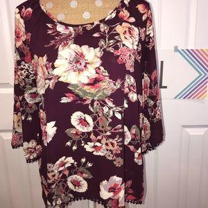 Tops - Target floral blouse- large